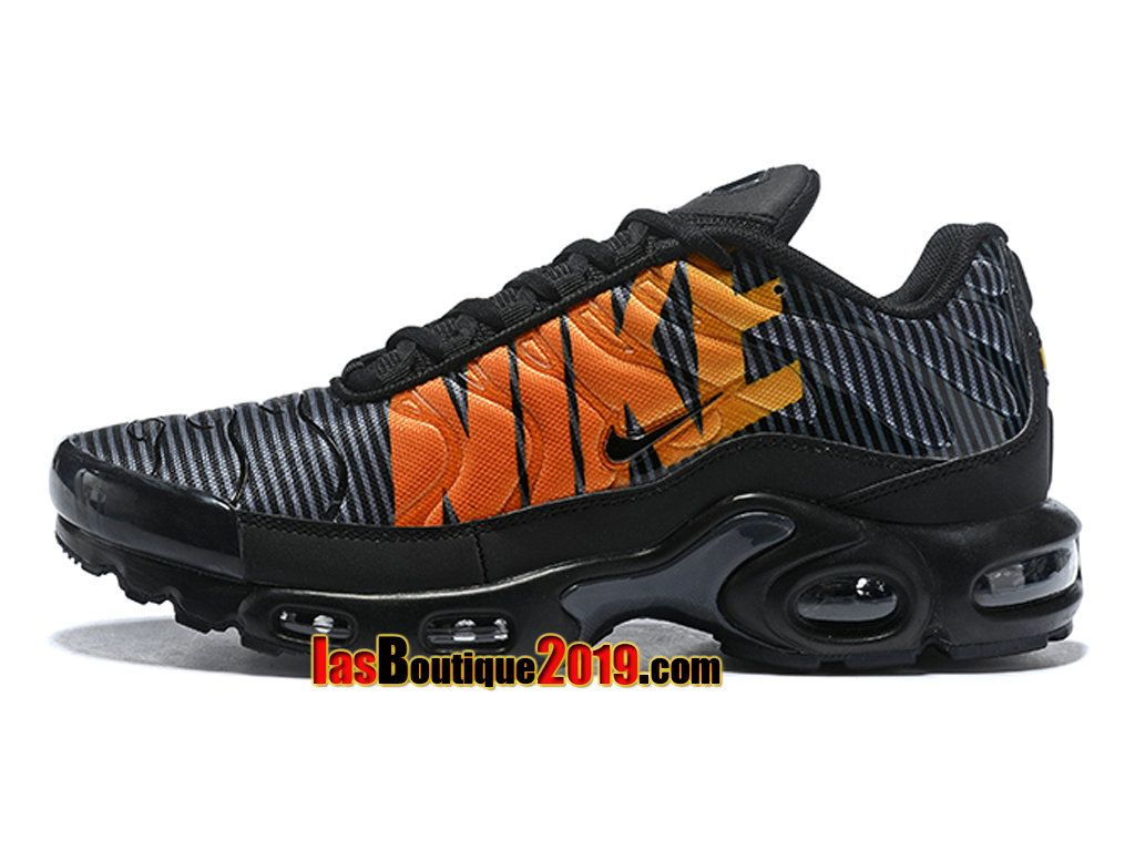 Attractive Nike Air Max Plus TN Striped Black Total Orange