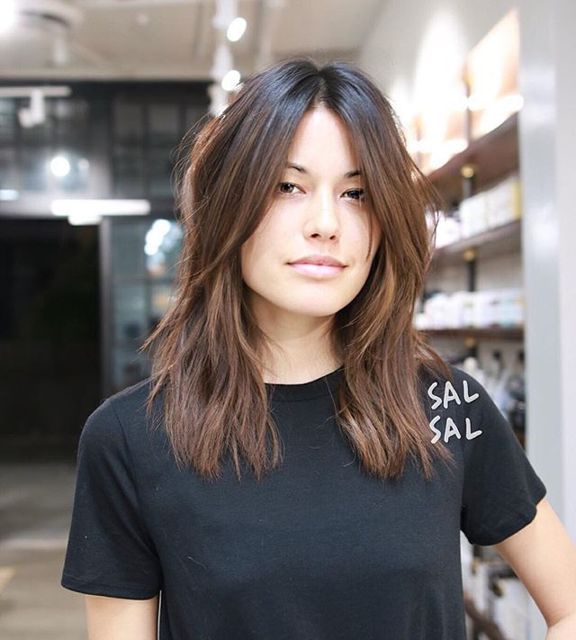 Effortlessly  Color @mizzchoi  Cut/Style @salsalhair #curtainbangs