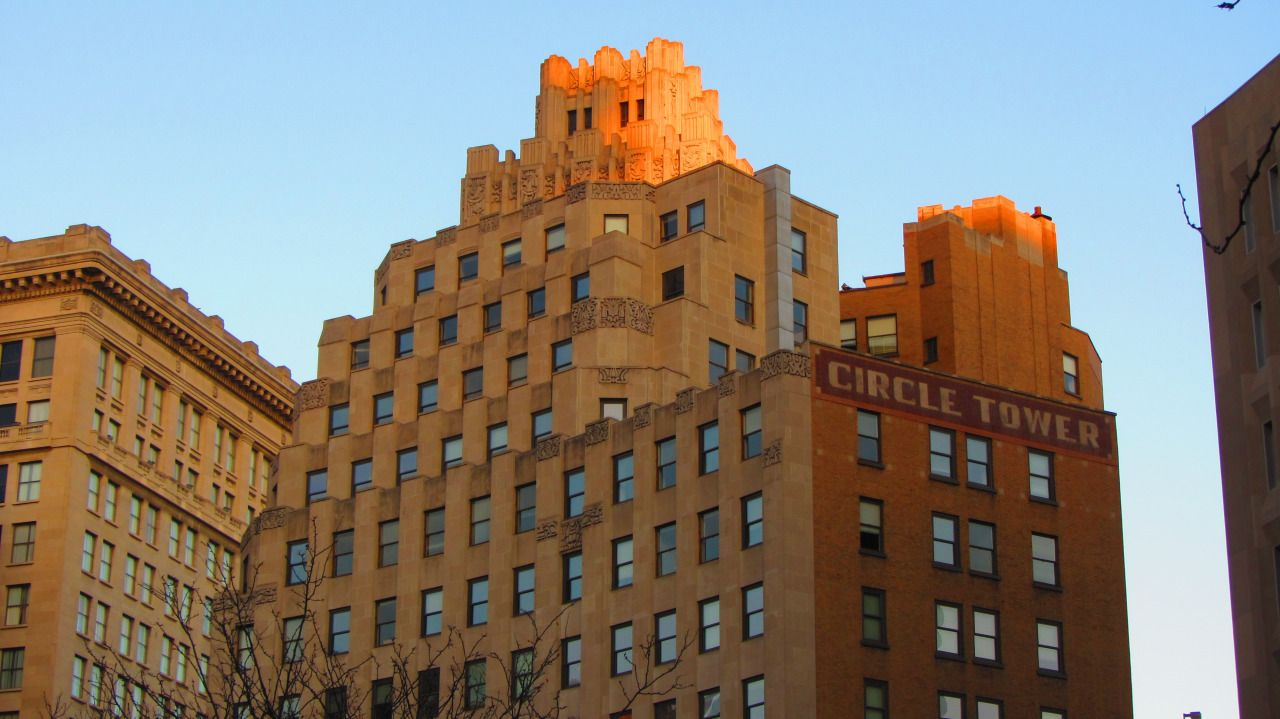 Akron Squirrel: U201c Circle Tower, Indianapolis Built By Rubush U0026 Hunter, One  Of The Leading Architectural Firms Of The Early Century In Indianapolis I  Was ...
