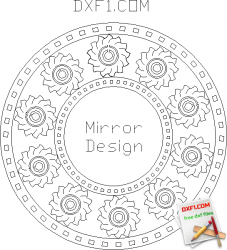 Mirror round - FREE DXF FILES  FREE CAD SOFTWARE - DXF1 com | Free