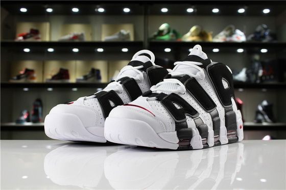 hot sales 4b693 f0aab Supreme X Nike Air More Uptempo Scottie Pippen 414962 105 White Black  Varsity Red Men Shoes
