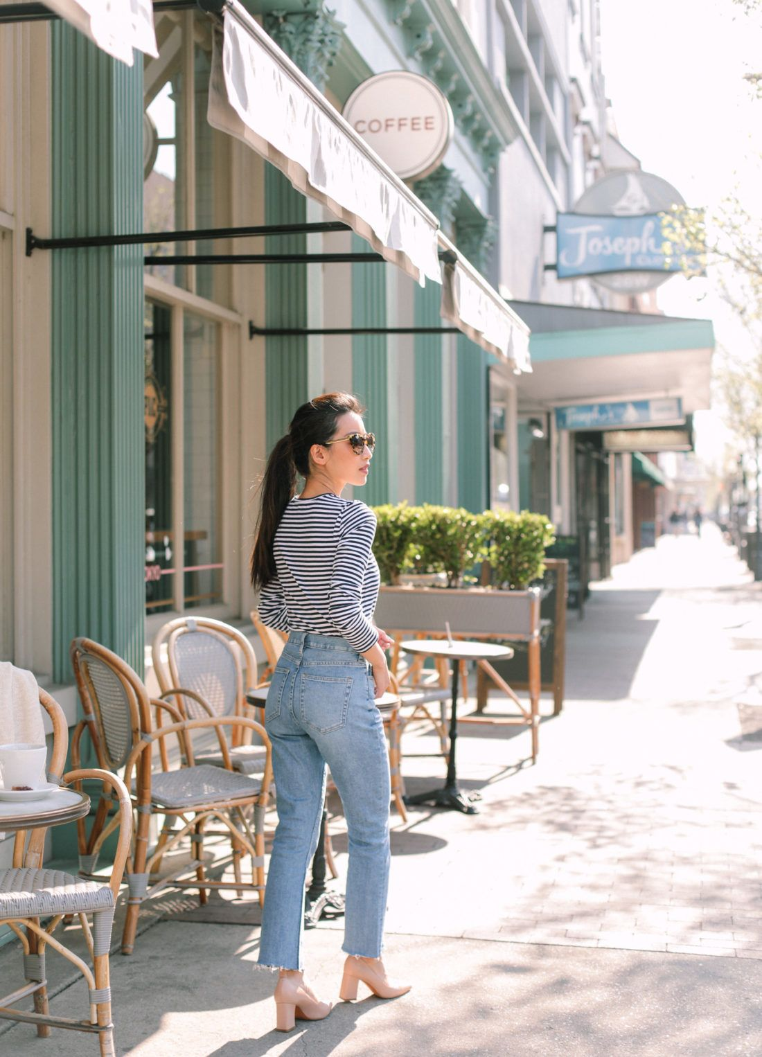 Everlanes petite friendly jeans and sweaters