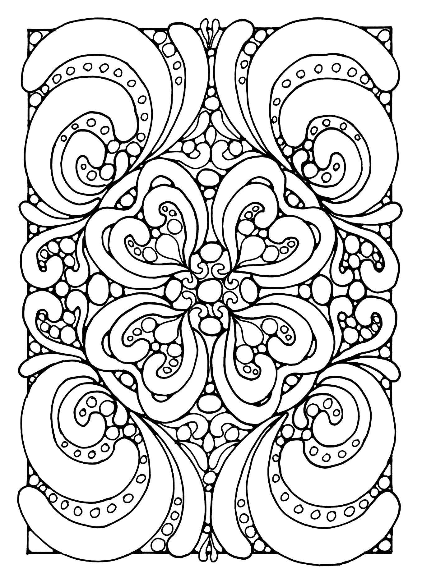 Free Coloring Page Coloring Abstract Zen