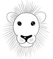 How to draw Simple lions with Easy Steps for Children ...