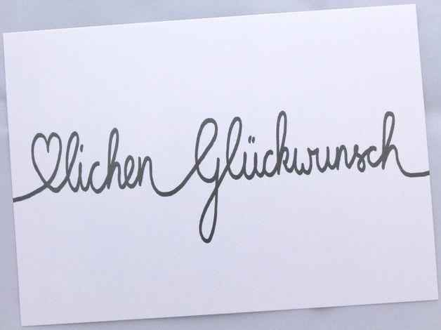 Postkarte Herzlichen Gluckwunsch Karten Lettering