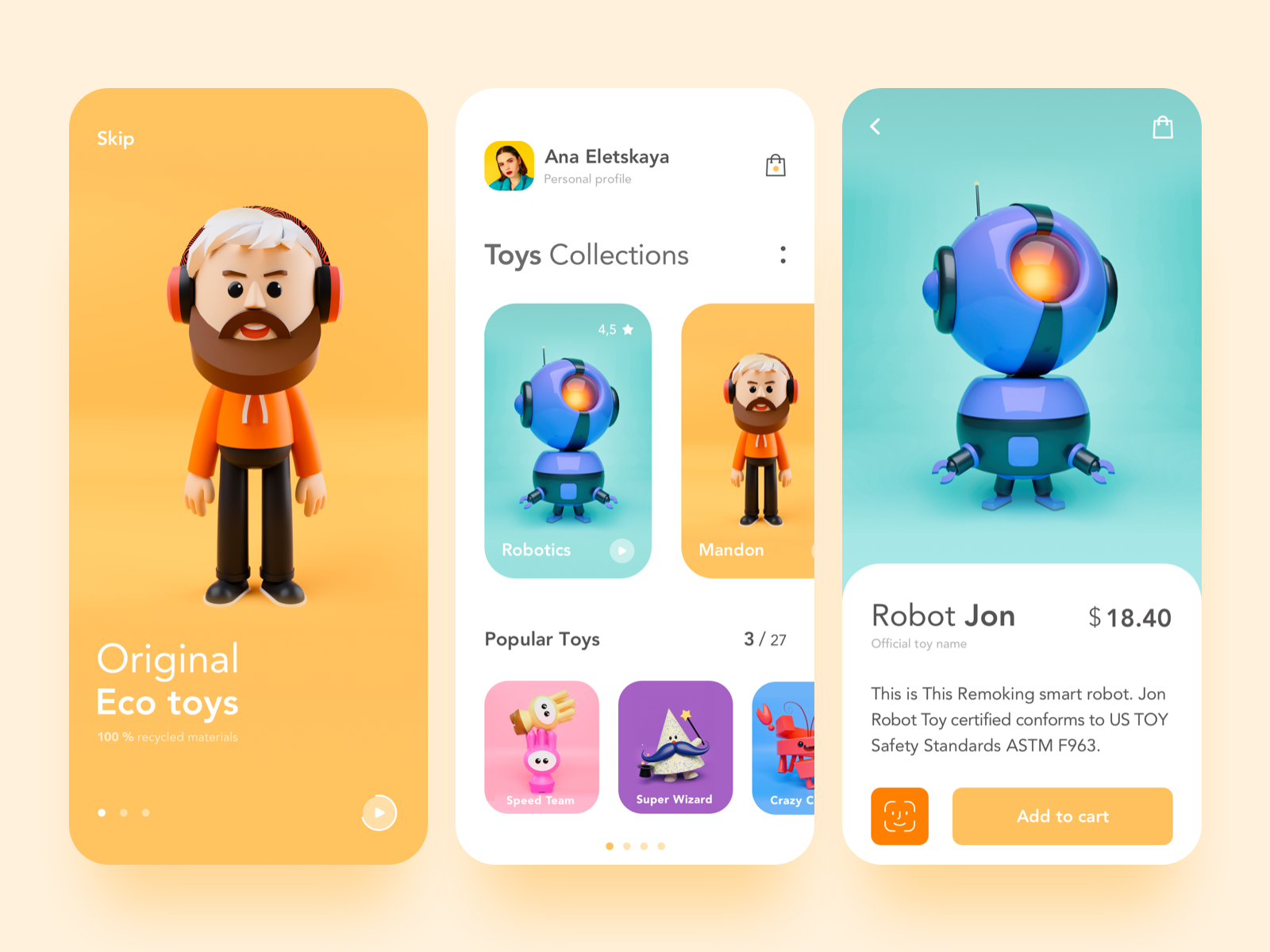 Toys Shop App #gameinterface