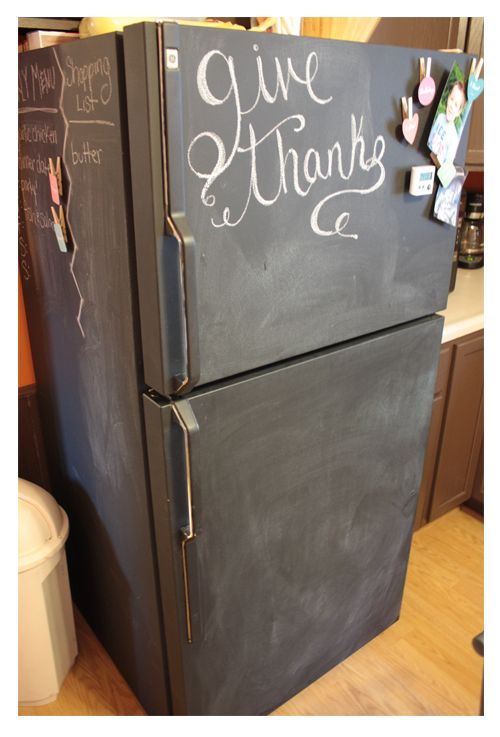 The Super Fun List Bloggy Love The Handmade Home Refrigerator Makeover Fridge Makeover Painted Fridge