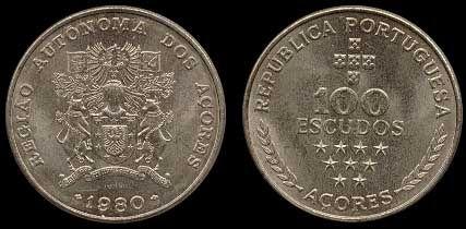 100 Escudos -Cupro Níquel, 1980