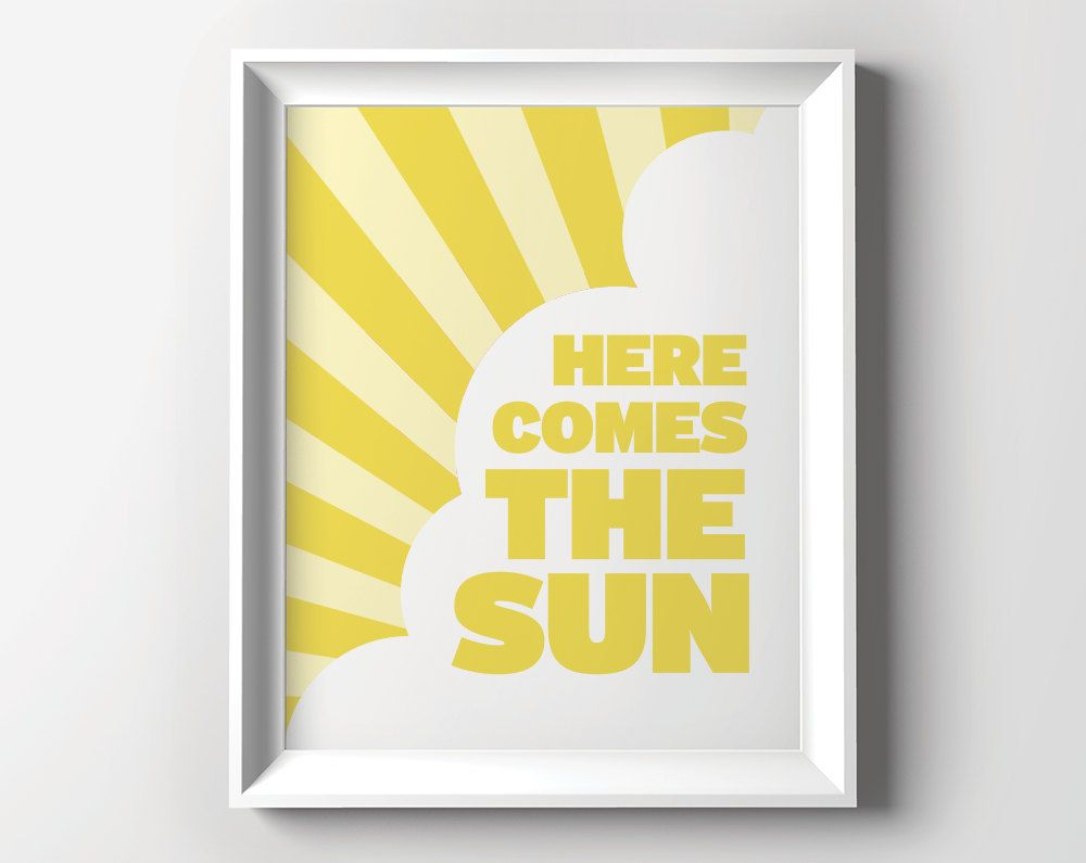 Here Comes the Sun: printable art for kid\'s room art or colorful ...