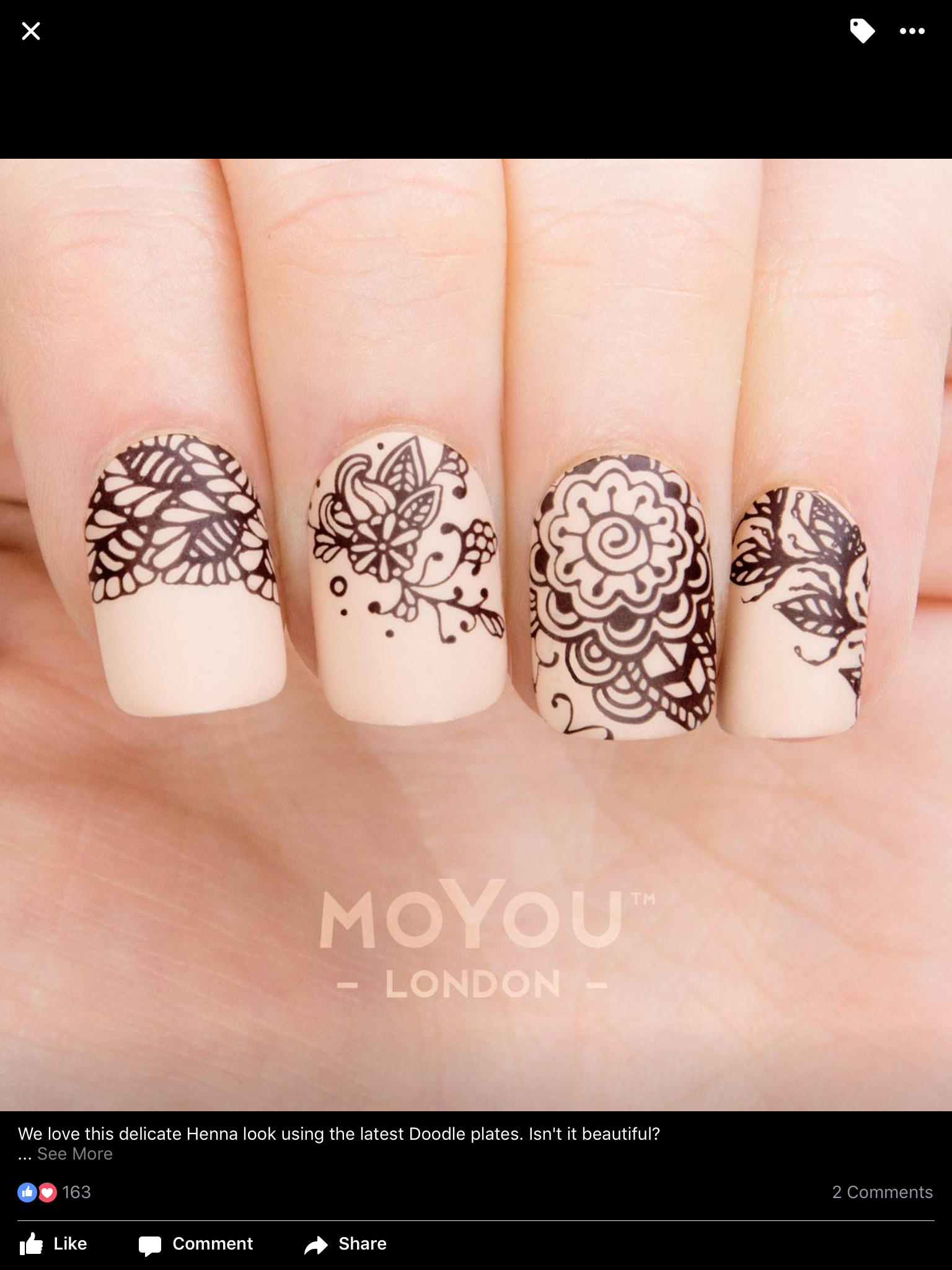 Floral, henna, stamping, simple