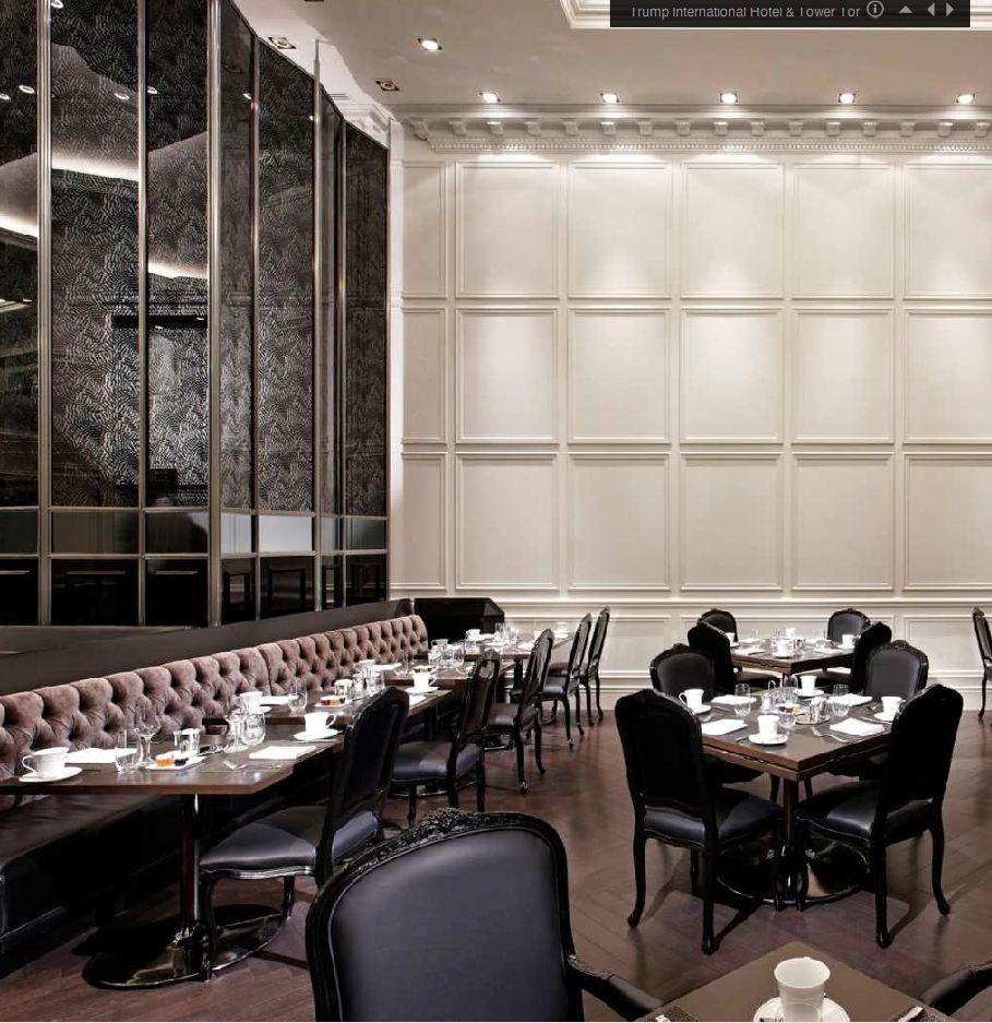 Cafe Banquette Seating: Trump International Hotel Restaurant & Bar Banquette