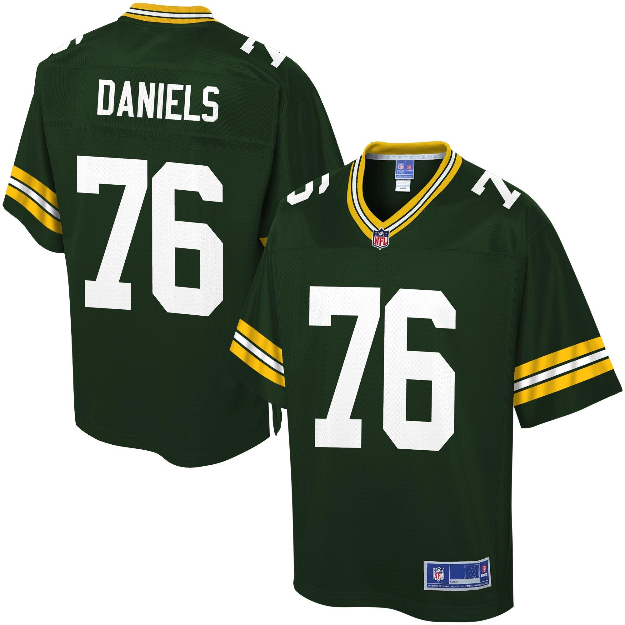 Pro Line Men S Green Bay Packers Mike Daniels Team Color Jersey Green Bay Packers Jerseys Green Bay Packers Green Bay Packers Players