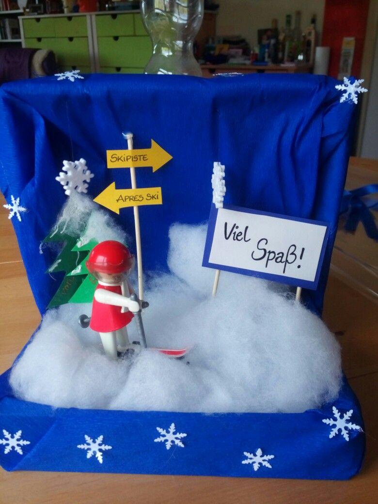 Geldgeschenk Fur Skiurlaub Geldgeschenke Basteln Pinterest