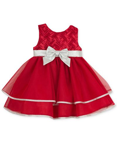 dbf401c72 Rare Editions Baby Girls' Red & Silver Party Dress | Baby Girl ...