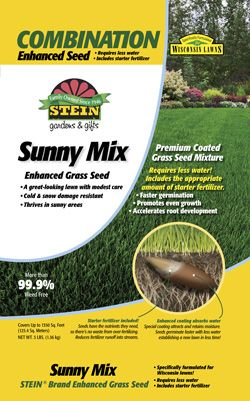 Stein Sunny Grass Enhanced Seed Mixture Is Formulated For Wisconsin Lawns And Includes Starter Fertilizer For Strong Root Growt Seeding Lawn Shade Grass Seeds