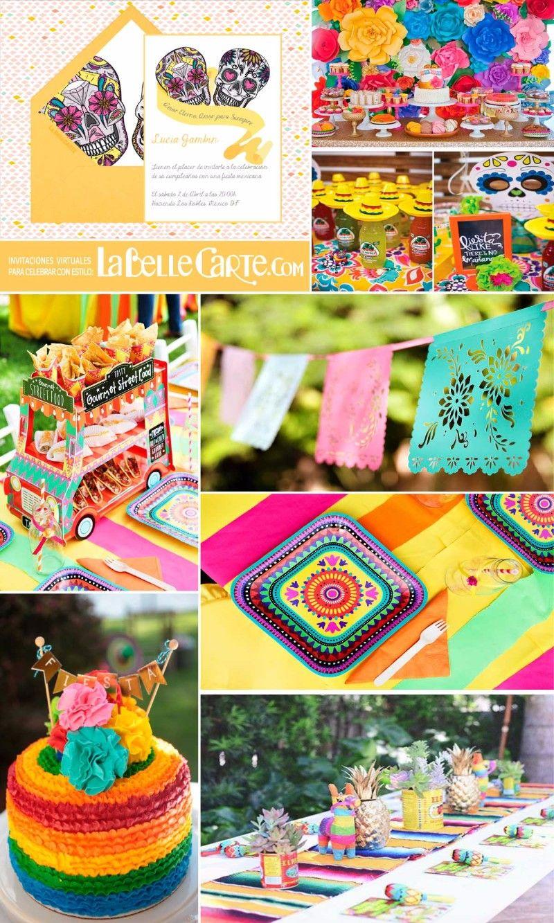 Center piece nathan39s bday ideas t fiesta mexicana - Ideas para decorar cumpleanos de adultos ...