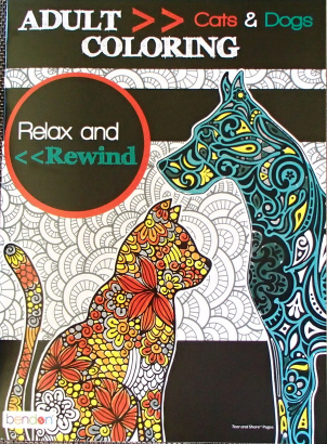 Cats And Dogs Bendon Adult Coloring Book USA Brand New Relax Rewind Crafts