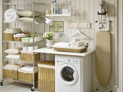 Lavaderos con aire rom ntico laundry laundry rooms and - Cuarto de lavado y planchado ...