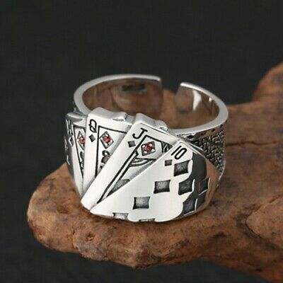 Details about Solid 925 Sterling Silver Straight Flush Mens Glamour Fashion Fine Ring