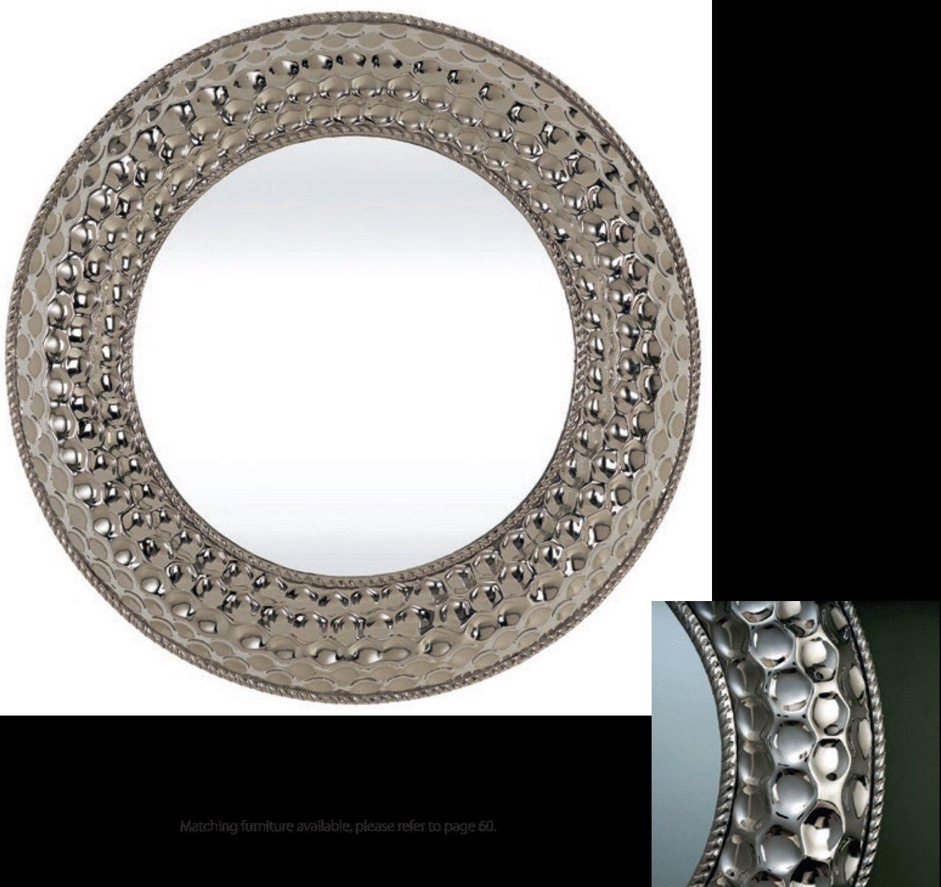 Ajmer Silver Wall Mirror 3 Sizes Silver Wall Mirror Mirror Circular Mirror