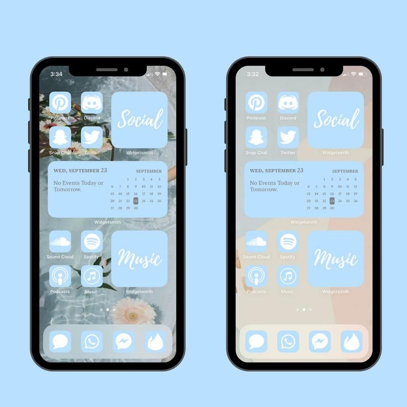Pastel Blue Icon Pack For New IOS 14 Update Custom