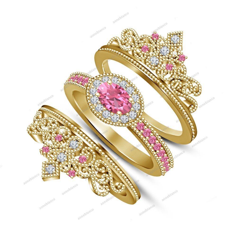 Fabulous Disney-Inspired Wedding Rings, Perfect for a ... |Disney Princess Wedding Set