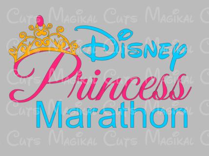 Disney Princess Marathon Design SVG, Studio, EPS, and JPEG Digital Dow – Magikal Cuts