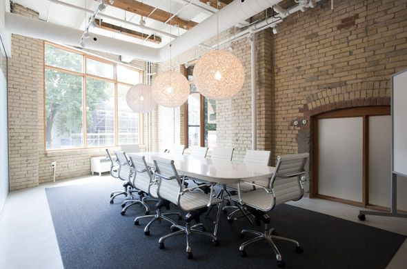 A shared office space for entrepreneurs in toronto workplace one office deco organization - General mills head office ...