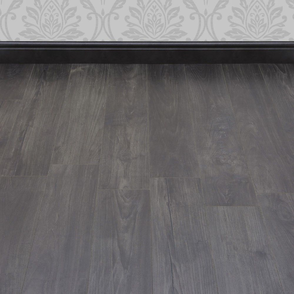 Dark grey tones and a gorgeous wood effect texture make this manor dark grey tones and a gorgeous wood effect texture make this manor nostalgic teak graphite laminate floor a must have for a modern home that requires a dailygadgetfo Images