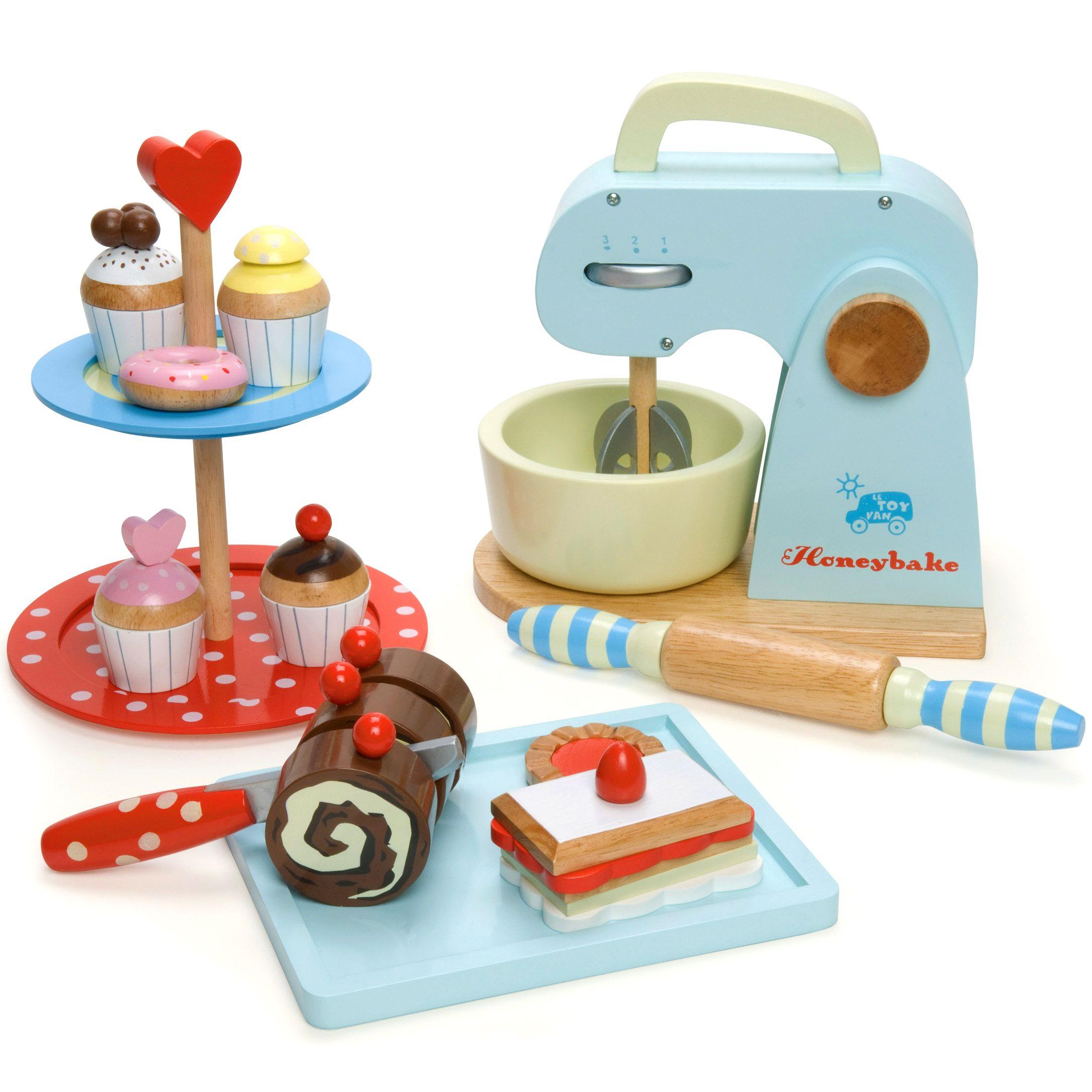 Le Toy Van Honeybake Baking Set A Play Mixer Baking Set Wooden Toy Shop Kids Kitchen