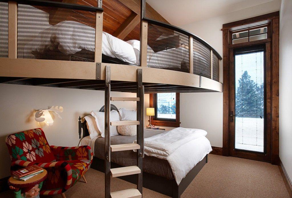 Kleine Wohnung Einrichten Mit Hochhbett Für Zwei Personen_coole  Einrichtungsbeispiele Für Kleine Schlafzimmer