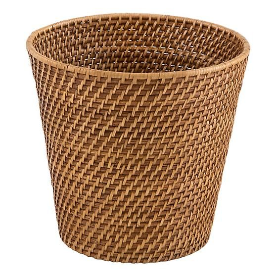Beautiful Bathroom Bins copper rattan wastebasket | crafts | pinterest | rattan, trash