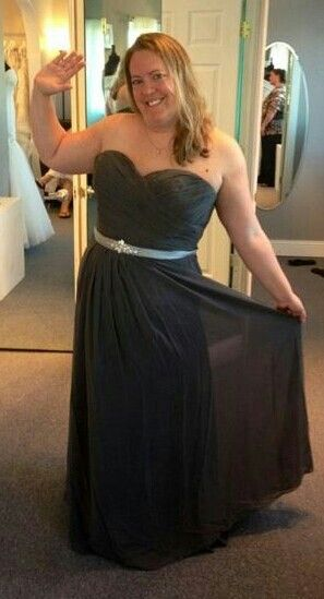 Our new model clowning around. Two tone bridesmaid dress, any color ...