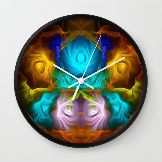 Everything in motion, colourful abstract Wall Clock