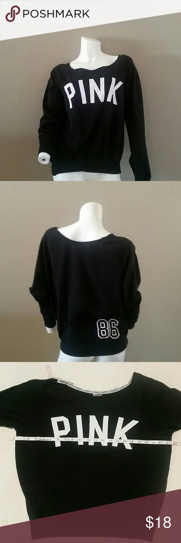 2f55c1a32d06 Victoria s secret Pink sweatshirt small Small Black sweatshirt