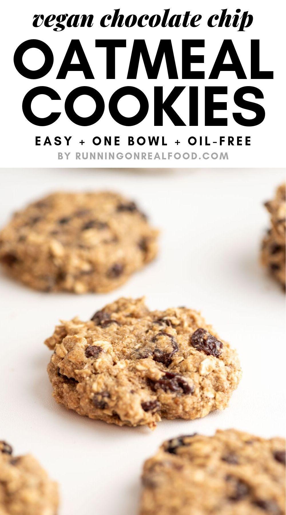 Vegan Oatmeal Raisin Chocolate Chip Cookies Recipe Oatmeal Raisin Chocolate Chip Cookies Healthy Oatmeal Cookies Vegan Oatmeal