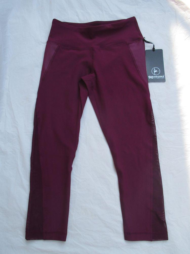 ff95a9b4306a9 Leggings Capri Legging 90 Degree By Reflex Color Cherry Jubilee Sheer  CW64640 #90DegreeByReflex #Capri