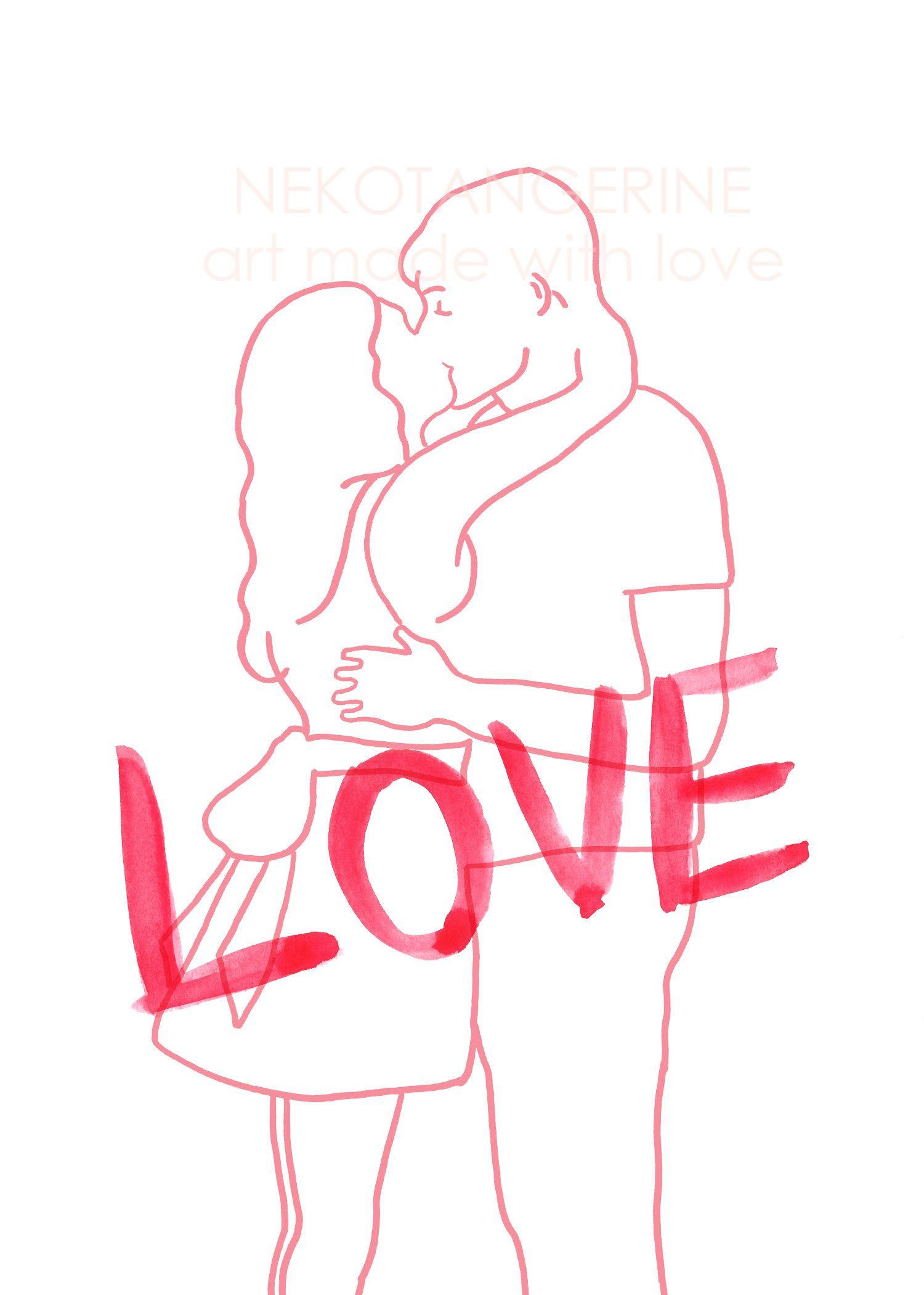 Embrace Valentines Day Decor Printable Line Art Posters Art Prints Line Artwork