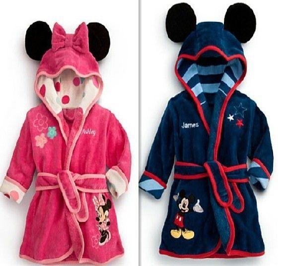 f1338eb5d4 Click to Buy    Free shipping children s bathrobe Retail! Baby pc 1 boy    girl minnie and mickey soft velvet robe pajamas coral children dress b   Affiliate.