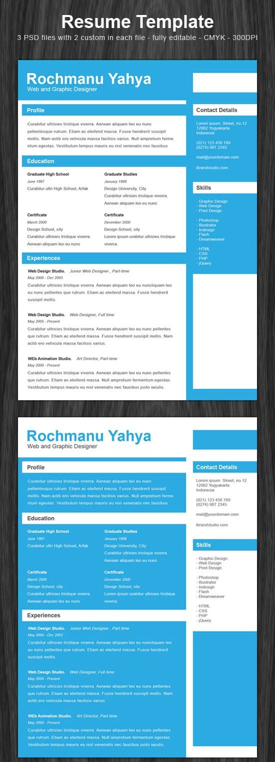Resumes Free Download 10 Free Download Cv Resume Template  Resumes And More  Pinterest .