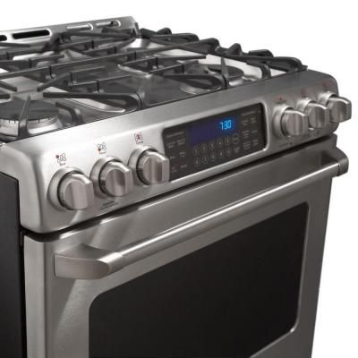 GE Cafe 5 4 cu  ft  Dual Fuel Range with Self-Cleaning