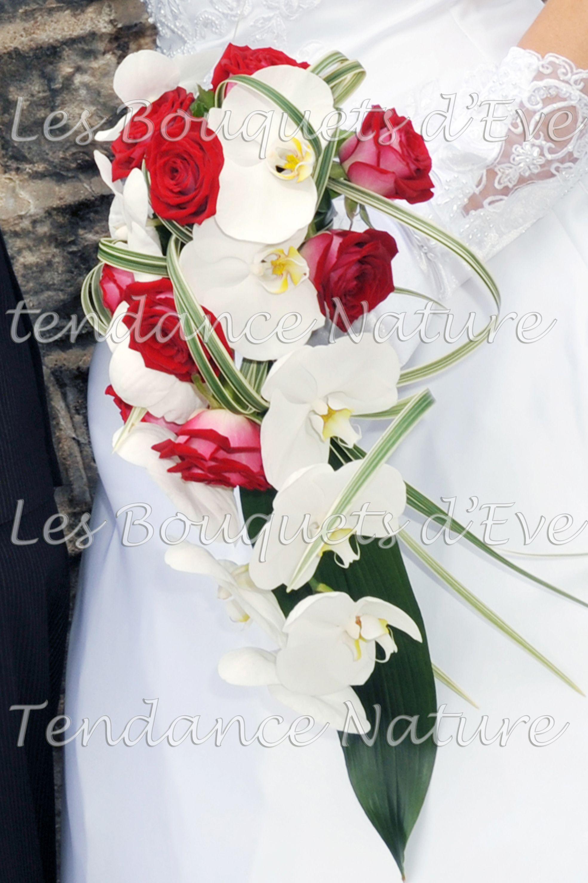 Bouquet Mariee Orchidee Et Roses Rouges Bouquet Mariee