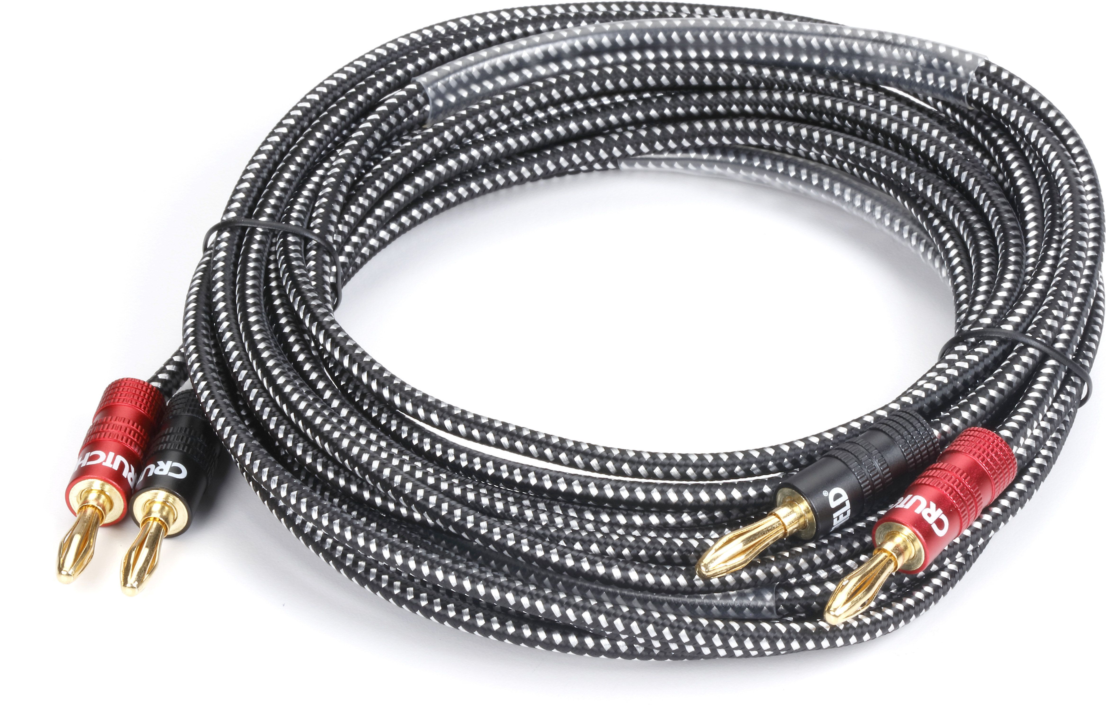 hight resolution of our crutchfield speaker wire with pre attached banana plugs provides an easy secure connection between your speakers and receiver or amplifier the