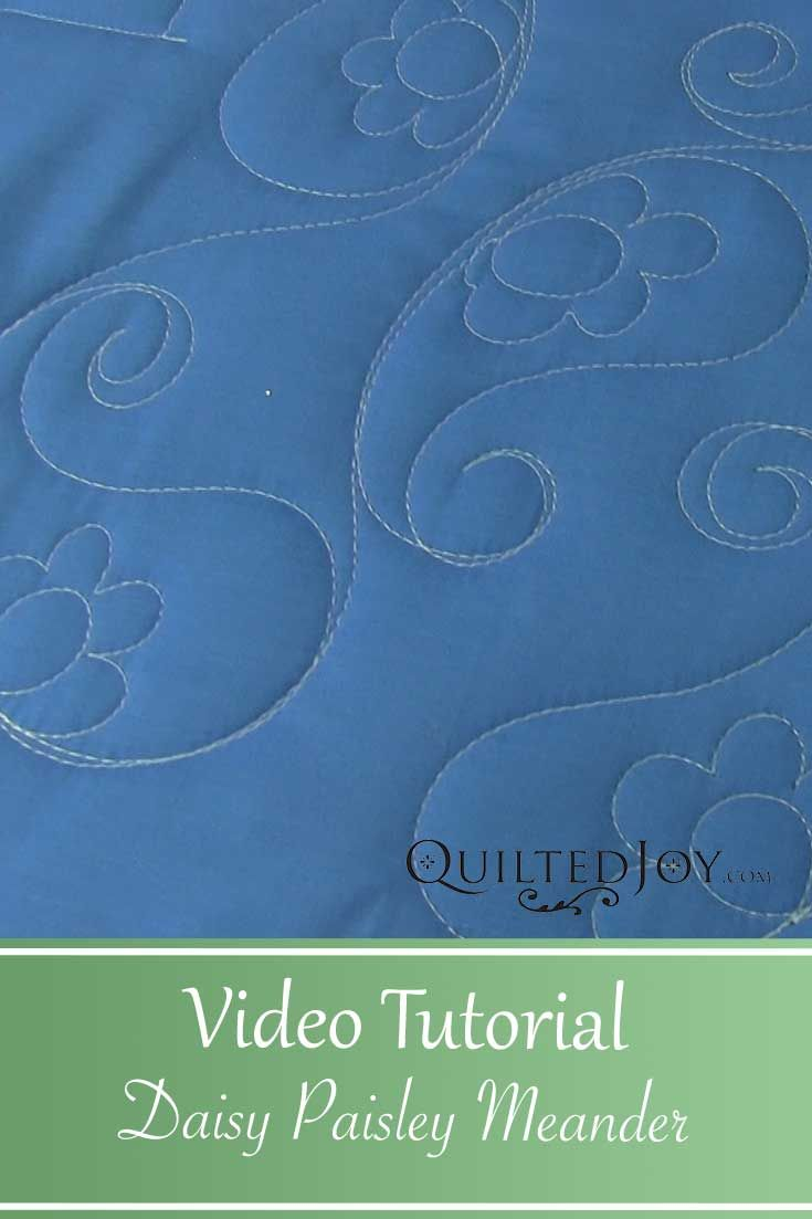 Video Tutorial Daisy Paisley Meander Longarm Quilting