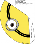 Free Printable Minion Party Hat http://www.familyshoppingbag.com/img/thumb/jump/2485/Favor_Box#.Ul6FrlDrwnt