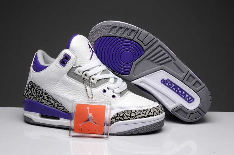 outlet store 4c3b1 63c12 Air jordan3 retro white cement grey jumpman basketball women