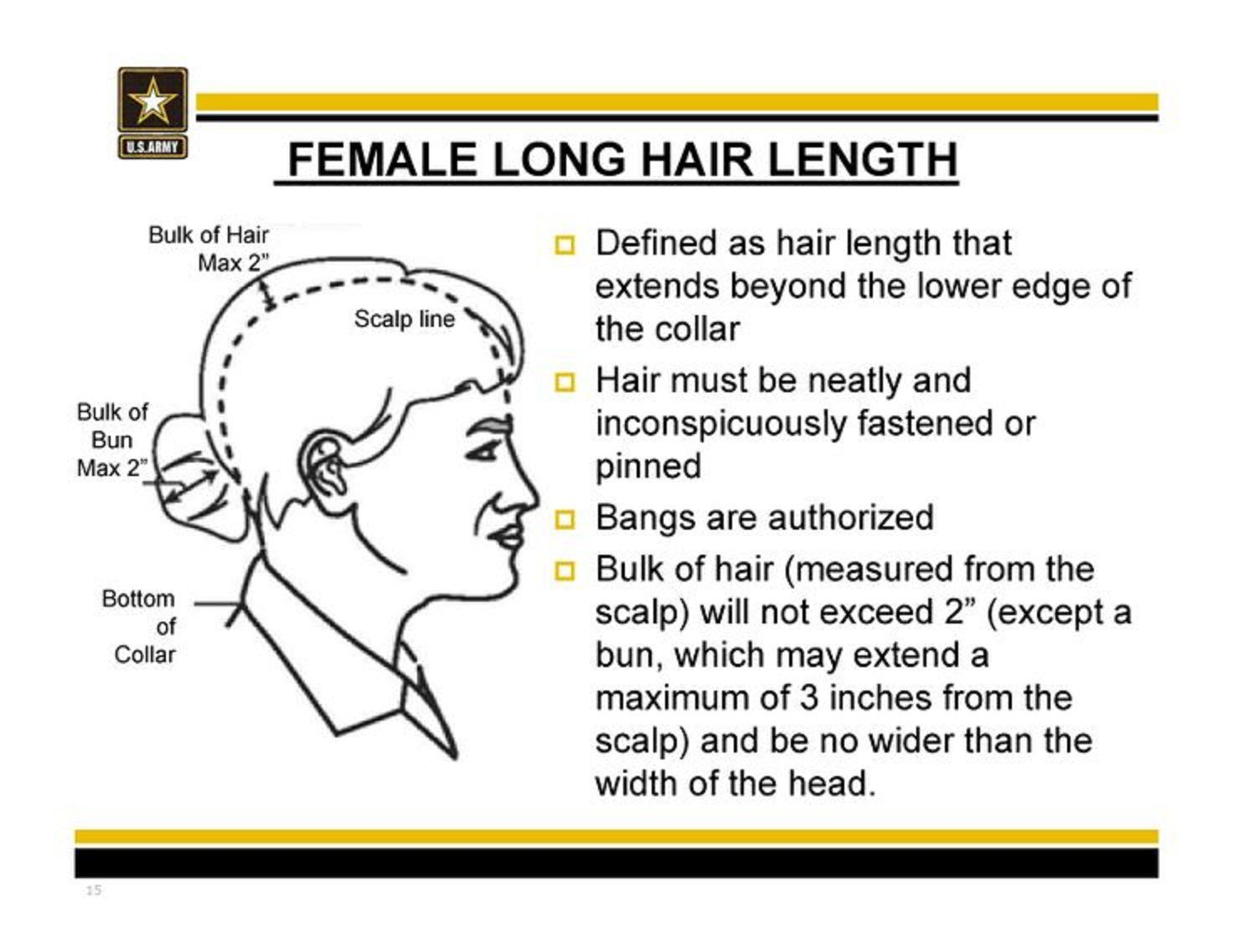 Army Regulation On Hair In Pt Uniform Military Hair Womens Hairstyles Army Hair Regulations