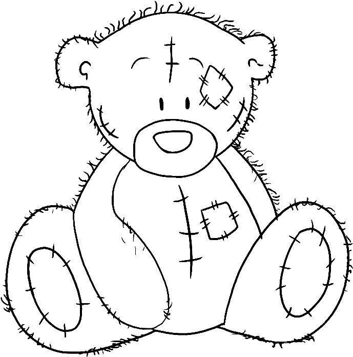 2856badc6650d1bc4402730568aafd7f Jpg 689 696 Einfach Zeichnen Ausmalbild Bar Teddybar Zeichnen
