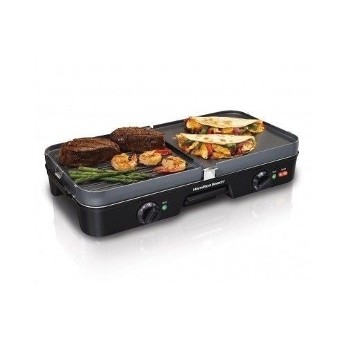 Grill Griddle Indoor Electric Countertop Smokeless Bbq Kitchen