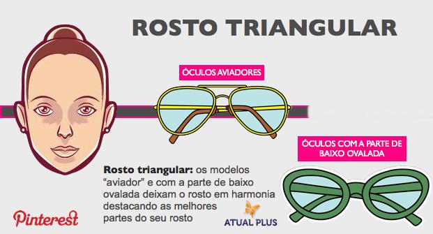 82f01dd59c1b6 ROSTO TRIANGULAR - Usar óculos de grau ou de sol